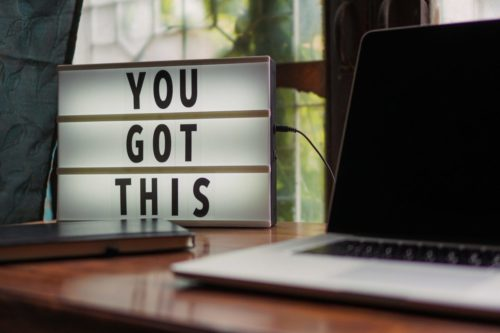"Illuminated sign that reads ""You Got This"""