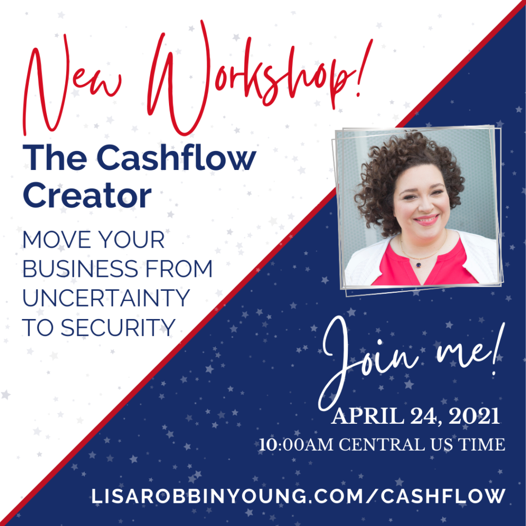 The CashFlow Creator Workshop is April 24, 2021 from 10am -1pm Central US time. Move your business from uncertainty to security.